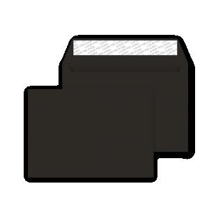 C6 Peel and Seal Envelope - Jet Black