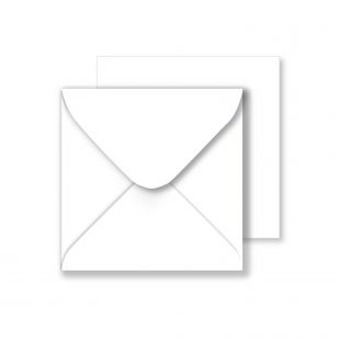 1,000 Wholesale Square White Envelopes 130gsm (130mm x 130mm)
