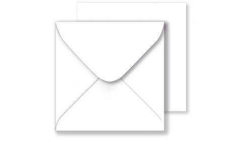 1,000 Wholesale Square White Envelopes 130gsm (130mm x 130mm)