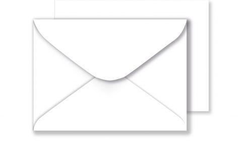 White Envelopes 100gsm (133mm x 184mm)