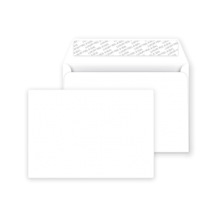 C6 Peel and Seal Envelope - Ice White