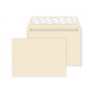 C6 Peel and Seal Envelope - Clotted Cream
