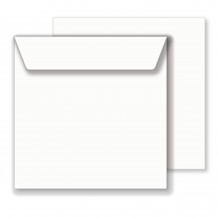 Essentials Square White Envelopes - 159mm x 159mm