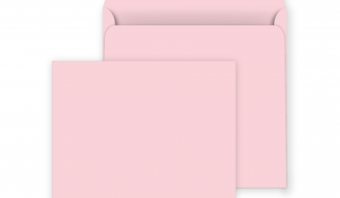 Square Peel and Seal Envelopes - 160mm x 160mm- Baby Pink