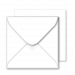 1,000 Wholesale Square White Envelopes 130gsm (155mm x 155mm)