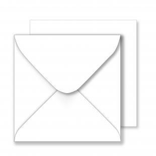 Square White Envelopes 130gsm (155mm x 155mm)