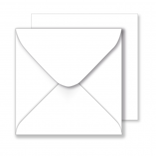 Square White Envelopes 130gsm (155mm x 155mm)