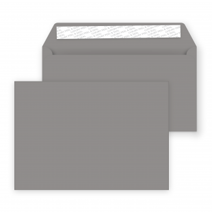 C6  Peel and Seal Envelopes - 114mm x 162mm - Storm Grey