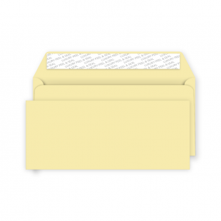 DL Peel and Seal Envelope - Vanilla Ice Cream