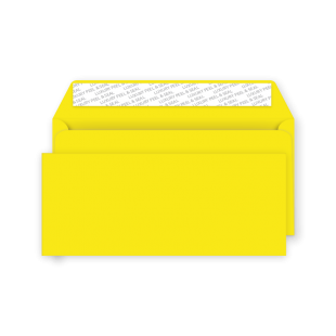 DL Peel and Seal Envelope - Banana Yellow