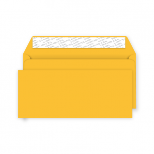 DL Peel and Seal Envelope - Egg Yellow
