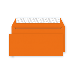 DL Peel and Seal Envelope - Pumpkin Orange