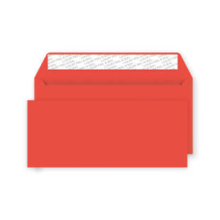 DL Peel and Seal Envelope - Pillar Box Red