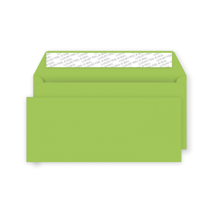 DL Peel and Seal Envelope - Lime Green