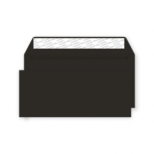 DL Peel and Seal Envelope - Jet Black