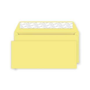 DL Peel and Seal Envelope - Lemon Yellow