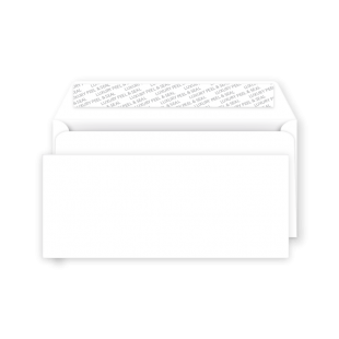 DL Peel and Seal Envelope - Ice White