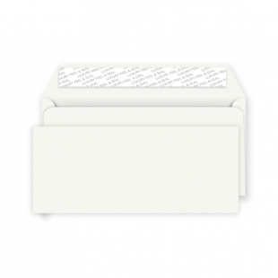 DL Peel and Seal Envelope - Milk White