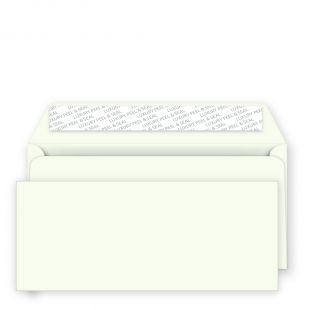 DL Peel and Seal Envelopes - 114mm x 229mm -Chalk White