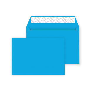 C5 Peel and Seal Envelopes - Caribbean Blue