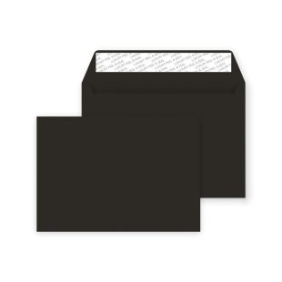 C5 Peel and Seal Envelope - Jet Black