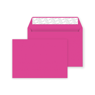C5 Peel and Seal Envelopes - Shocking Pink