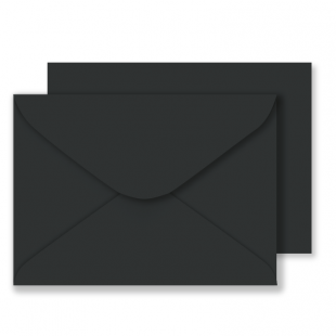 "5"" x 7"" Black Envelopes 100gsm"