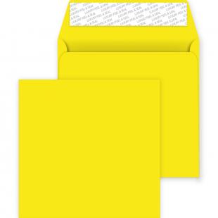 Square Peel and Seal Envelopes - 220mm x 220mm - Banana Yellow