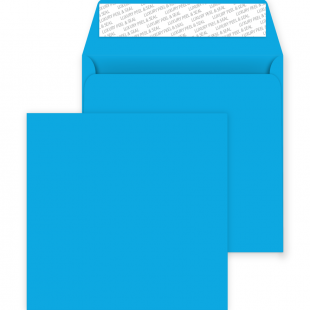 Square Peel and Seal Envelopes - 220mm x 220mm - Caribbean Blue