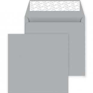 Square Peel and Seal Envelopes - 220mm x 220mm - Metallic Silver
