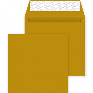 Square Peel and Seal Envelopes - 220mm x 220mm - Metallic Gold