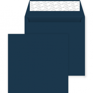 Square Peel and Seal Envelopes - 220mm x 220mm - Oxford Blue