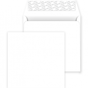 Square Peel and Seal Envelopes - 220mm x 220mm - Ice White