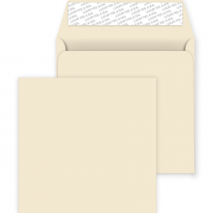 Square Peel and Seal Envelopes - 220mm x 220mm - Clotted Cream