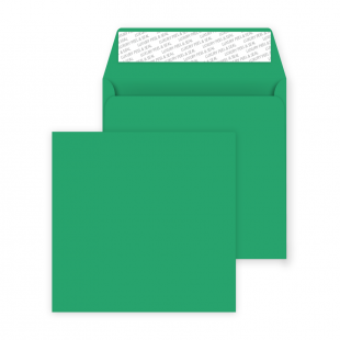 Square Peel and Seal Envelopes - 160mm x 160mm- Avocado Green
