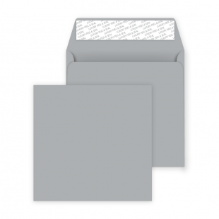 Square Peel and Seal Envelopes - 160mm x 160mm- Metallic Silver