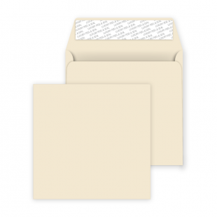 Square Peel and Seal Envelopes - 160mm x 160mm- Clotted Cream