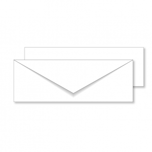 Essentials White Invitation Envelopes- 80mm x 215mm