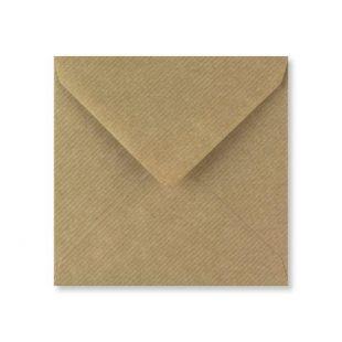 Square Ribbed Kraft Envelopes (130mm x 130mm)