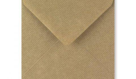 1,000 Wholesale Square Ribbed Kraft Envelopes (130mm x 130mm)