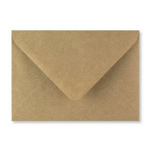 1,000 Wholesale C6 Ribbed Kraft Envelopes 115gsm (114mm x 162mm)