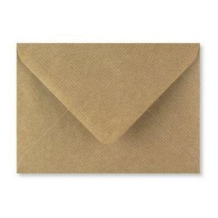 "5"" x 7"" Brown Ribbed Kraft Envelopes 100gsm"