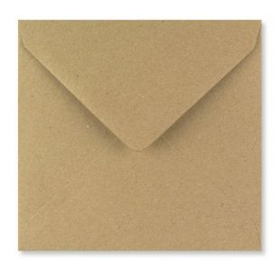 1,000 Wholesale Square Fleck Kraft Envelopes 110gsm (130mm x 130mm)