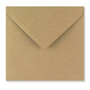 1,000 Wholesale Square Fleck Kraft Envelopes (130mm x 130mm)