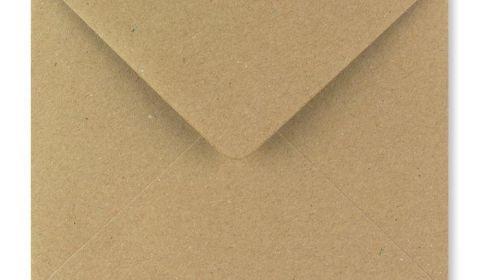 1,000 Wholesale Square Fleck Kraft Envelopes 110gsm (155mm x 155mm)