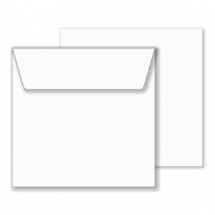 Essentials White Square Envelopes- 190mm x 190mm