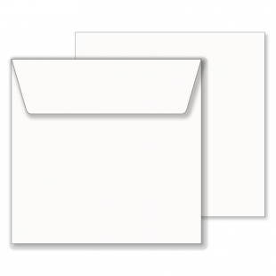 Essentials White Square Envelopes- 195mm x 195mm