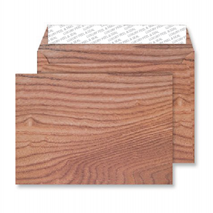 C5 Peel and Seal Envelopes - Polished Oak