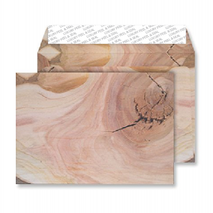 C5 Peel and Seal Envelopes - Natural English Oak