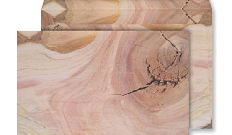 C5 Peel and Seal Envelopes - Natural English Oak